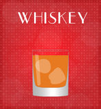 Drinks List Whiskey with Red Background Royalty Free Stock Photos