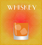 Drinks List Whiskey with Red & Golden Background Stock Photos