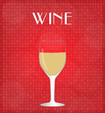 Drinks List White Wine with Red Background Royalty Free Stock Photo