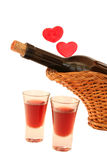 Drinks and love. Valentine celebration Stock Photo