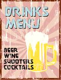 Drinks menu, Royalty Free Stock Image