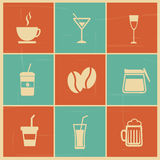 Drinks menu. Over colorful background vecto illustration Stock Images