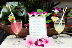 Drinks menu Royalty Free Stock Photography