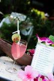 Drinks menu Royalty Free Stock Photos