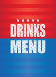 Drinks menu background. A red and blue drinks menu background Stock Photo