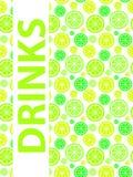 Drinks Menu Background Vector Illustration. EPS10 Royalty Free Stock Photo