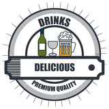 Drinks menu restaurant isolated icon. Illustration design Royalty Free Stock Photography