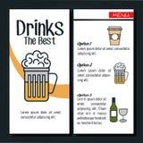 Drinks menu restaurant isolated icon. Illustration design Royalty Free Stock Photo