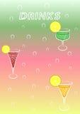 Drinks menu. Template -  illustration Royalty Free Stock Photos
