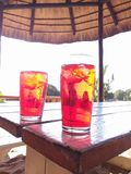 drinks @ Mozambique royalty free stock photography