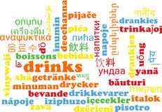 Drinks multilanguage wordcloud background concept Stock Photo