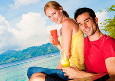 Drinks In Paradise Royalty Free Stock Photos