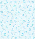 Drinks pattern Royalty Free Stock Image