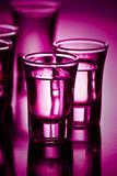 Drinks on purple Royalty Free Stock Photography