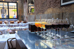 Drinks ready to be served Royalty Free Stock Images