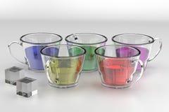 Drinks render Stock Image