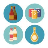 Drinks round icons. Icon vector illustration graphic design royalty free illustration
