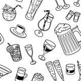Drinks seamless pattern Stock Image