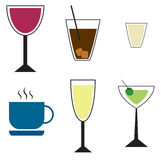 Drinks set color Royalty Free Stock Photo
