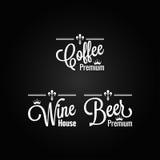 Drinks set labels design background Stock Images
