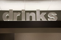 Drinks sign Stock Photography