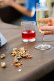Drinks and snacks Royalty Free Stock Photography