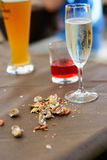 Drinks and snacks Royalty Free Stock Photo
