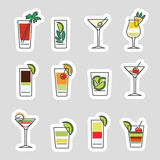 Drinks stickers set Royalty Free Stock Photo