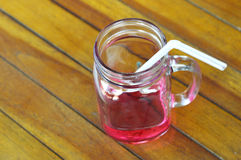 Drinks strawberry syrup Stock Images
