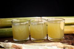Drinks sugar cane. Royalty Free Stock Photography