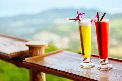 Drinks. Summer Cocktails In Tropical Restaurant. Travel To Thail Stock Photography