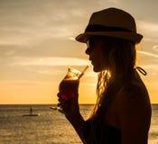 Drinks at Sunset around PortoMari Stock Photography