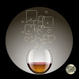Drinks in Transparent glass and alcohol drinks. vector illustrat Royalty Free Stock Image