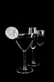 Drinks in trio Stock Images
