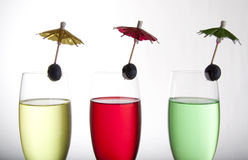 Drinks and umbrellas Royalty Free Stock Photo