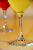 Drinks in Wine Glasses Stock Image