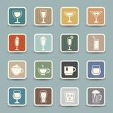 Drinksymboler vektor illustrationer