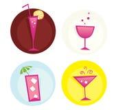 Drinkt iconset. Mengeling van de zomer hete dranken. VECTOR. vector illustratie
