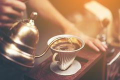 Drip Brewing, Filtered Coffee, Or Pour-over Is A Method Which In Royalty Free Stock Images