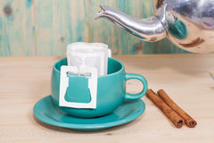 Drip coffee with hot water Royalty Free Stock Photo