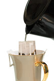 Drip Coffee isolated white background Royalty Free Stock Photos