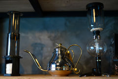 Drip kettle and siphon Stock Photos