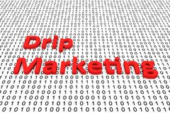 Drip marketing Stock Image