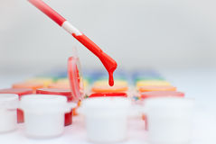 Drip paint brush Royalty Free Stock Image
