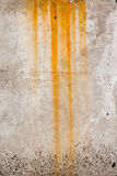Drip of rust on concrete background Royalty Free Stock Photos