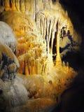 Stalactites Stalagmites Cave. Amazing limestone cave - Stalactites and stalagmites. Dripstone cave Stock Photo