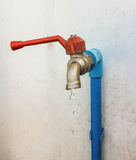 Drip water faucet. Stock Photo