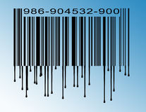 Dripping bar code Stock Photography