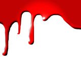 Dripping blood. On white background Royalty Free Stock Photo