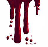 Dripping blood. An illustration of red Dripping blood Stock Photography